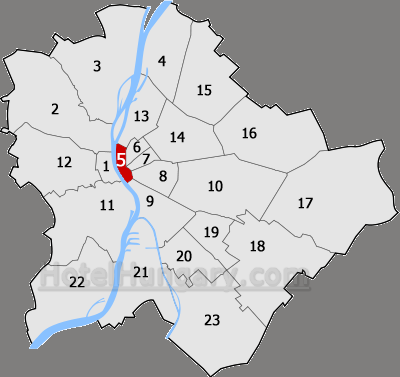 Hotels in the 5th district of Budapest The city center
